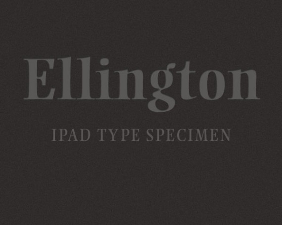 Ellington Type Specimen