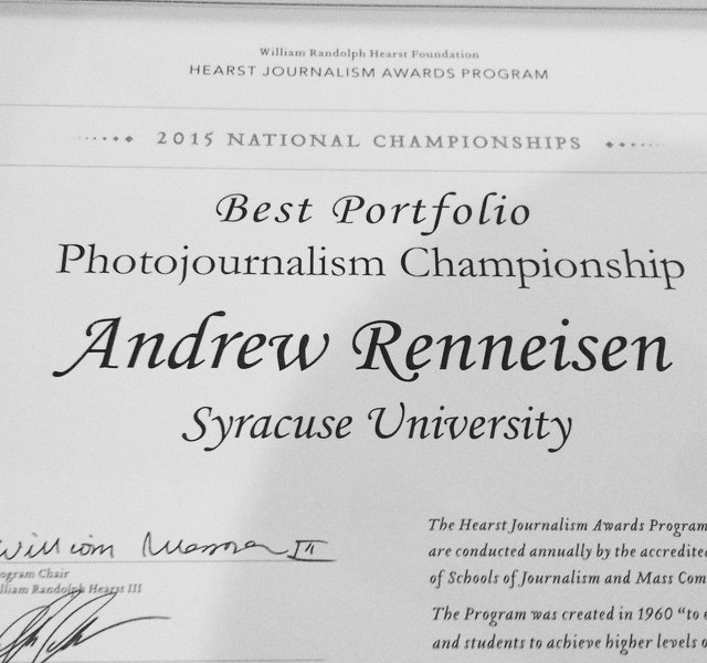 MPD student wins Best Portfolio at Hearst